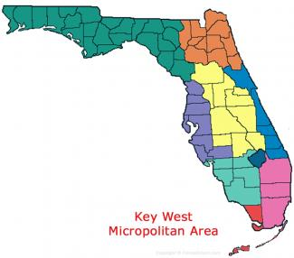 Key West Florida Micropolitan Area Map